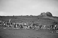 lots of spectators up Haytor<br /> <br /> 2013 Tour of Britain<br /> stage 6: Sidmouth to Haytor (Dartmorr): 137km