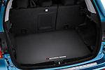 Rear cargo hatchback area of a 2011 Mitsubishi Outlander Sport SE