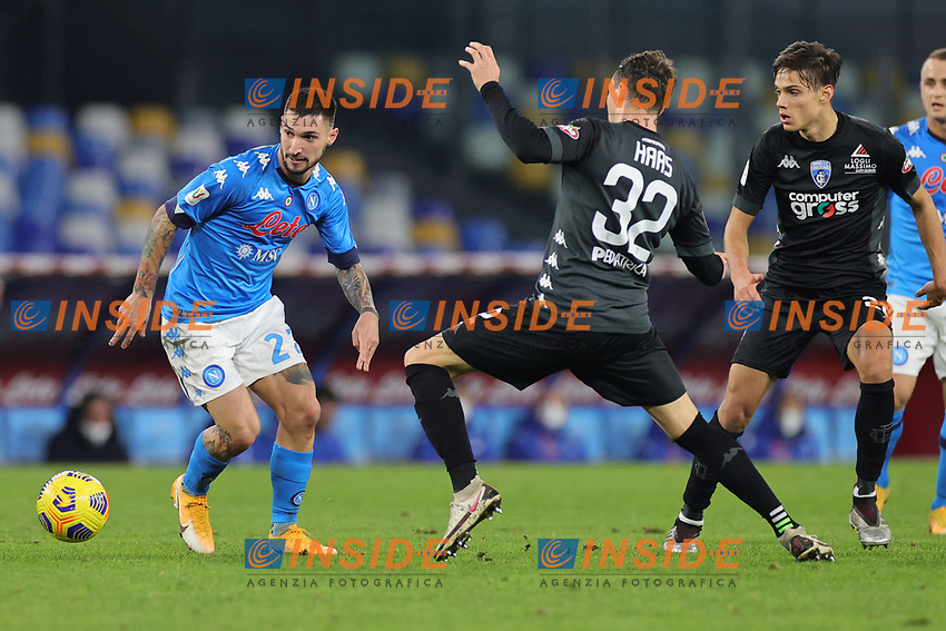 Matteo Politano of SSC Napoli in action during the Italy Cup football match between SSC Napoli and Empoli FC at stadio Diego Armando Maradona in Napoli (Italy), January 13, 2021. <br /> Photo Cesare Purini / Insidefoto
