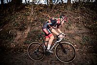 Laura Verdonschot (BEL/Pauwels Sauzen-Bingoal) up the infamous Koppenberg<br /> <br /> Koppenbergcross 2020 (BEL)<br /> women's race<br /> <br /> ©kramon
