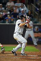 Tri-City ValleyCats outfielder Pat Porter (24) at bat during a game against the Aberdeen Ironbirds on August 6, 2015 at Ripken Stadium in Aberdeen, Maryland.  Tri-City defeated Aberdeen 5-0 in a combined no-hitter.  (Mike Janes/Four Seam Images)