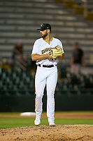 Bradenton Marauders pitcher Tyler Samaniego (36) during Game One of the Low-A Southeast Championship Series against the Tampa Tarpons on September 21, 2021 at LECOM Park in Bradenton, Florida.  (Mike Janes/Four Seam Images)