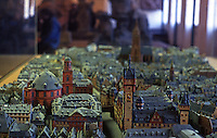 Frankfurt: Old Frankfurt Model--looking east to Paauschurch, Romer and DOM.