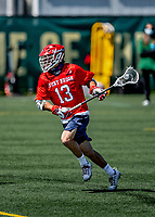 1 May 2021: Stony Brook University Seawolves Midfielder Chris Pickel Jr., a Graduate Student from Bayport, NY, in action against the University of Vermont Catamounts at Virtue Field in Burlington, Vermont. The Cats edged out the Seawolves 14-13 with less than one second to play in their America East Men's Lacrosse matchup. Mandatory Credit: Ed Wolfstein Photo *** RAW (NEF) Image File Available ***
