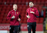 St Johnstone v Motherwell…..12.02.20   McDiarmid Park   SPFL<br />Tony Watt pictured warming up on his return to McDiarmid Park alongside Richard Tait<br />Picture by Graeme Hart.<br />Copyright Perthshire Picture Agency<br />Tel: 01738 623350  Mobile: 07990 594431
