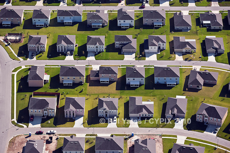 Residential Development St. Johns County Florida helicopter aerial