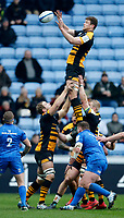 Photo: Richard Lane/Richard Lane Photography. Wasps v Leinster.  European Rugby Champions Cup. 20/01/2019. Wasps' Will Rowlands wins a lineout.