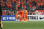 Shandong Luneng vs Kashiwa Reysol during the 2015 AFC Champions League Group E match on April 08, 2015 at the Suwon World Cup Stadium in Jinan, China. Photo by Yumiko Kawasaki / World Sport Group