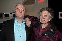 Montreal (Qc) CANADA - January 30, 2008 -<br /> Yves Beauchemin, writer  (R)attend the<br /> Launch of ZAPPE TA VIE, first music album by Michel Brule, better known as a provocative book publisher here in Quebec.<br /> <br /> Photo (c)  Images Distribution