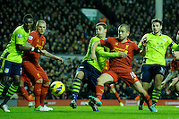 15.12.2012. Liverpool, England. Joe Cole of Liverpool    in action during the Premier League game between Liverpool and Aston Villa from Anfield,Liverpool