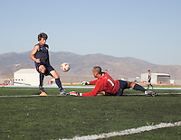 Jack McInerney and Earl Edwards training. 2009 CONCACAF Under-17 Championship From April 21-May 2 in Tijuana, Mexico