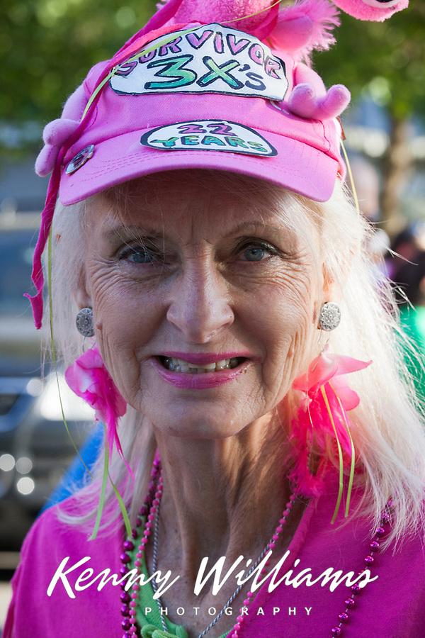 Cancer Survivor wearing Pink, Susan G Komen Race for The Cure, Seattle, WA, USA.