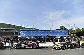 #86 Meyer Shank Racing w/ Curb-Agajanian Acura NSX GT3, GTD: Mario Farnbacher, Trent Hindman, #57 Heinricher Racing w/Meyer Shank Racing Acura NSX GT3, GTD: Katherine Legge, Christina Nielsen
