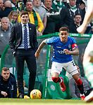 31.03.2019 Celtic v Rangers: Steven Gerrard and James Tavernier