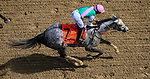 April 30, 2021 : Obligatory, #7, ridden by jockey Jose Ortiz, wins the Eight Belles Stakes on Kentucky Oaks Day at Churchill Downs on April 30, 2021 in Louisville, Kentucky. John Voorhees/Eclipse Sportswire/CSM