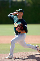 Kristian Bell - Oakland Athletics - 2009 spring training.Photo by:  Bill Mitchell/Four Seam Images