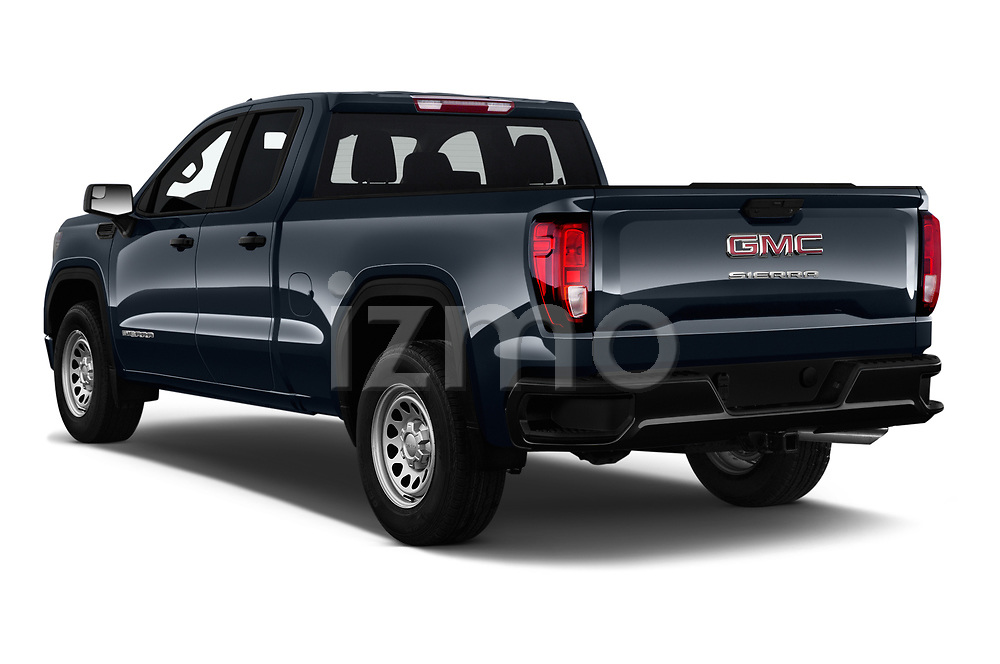 Car pictures of rear three quarter view of 2019 GMC Sierra-1500 WT 4 Door Pick-up Angular Rear