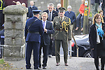 Taoiseach Enda Kenny TD being greated by Supt Andy Waters at The Funeral of Garda Anthony Golden RIP in St Oliver's church Blackrock Co Louth.<br /> <br /> Garda Golden was guned down in Omeath last Sunday.<br /> Picture Newsfile | Fran Caffrey
