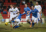 St Johnstone v Inverness Caley Thistle…09.03.16  SPFL McDiarmid Park, Perth<br />Joe Shaugnessy's effort goes wide of the post<br />Picture by Graeme Hart.<br />Copyright Perthshire Picture Agency<br />Tel: 01738 623350  Mobile: 07990 594431