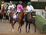 October 04, 2014: Kaigun and jockey Patrick Husbands in the Shadwell Turf Mile Grade 1 $1,000,000 at Keeneland Racecourse.  Candice Chavez/ESW/CSM