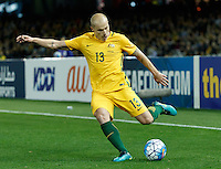 October 11, 2016: AARON MOOY (13) of Australia kicks the ball during a 3rd round Group B World Cup 2018 qualification match between Australia and Japan at the Docklands Stadium in Melbourne, Australia. Photo Sydney Low Please visit zumapress.com for editorial licensing. *This image is NOT FOR SALE via this web site.