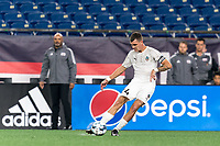 FOXBOROUGH, MA - SEPTEMBER 1: Dakota Barnathan #24 of FC Tucson passes the ball during a game between FC Tucson and New England Revolution II at Gillette Stadium on September 1, 2021 in Foxborough, Massachusetts.