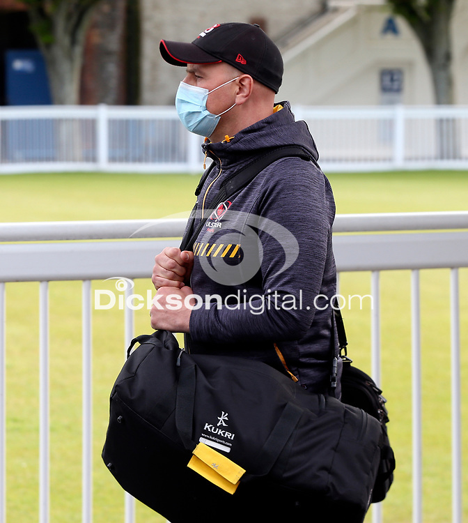 Friday 14th May 2021; Dan McFarland arriving for the Guinness PRO14 Rainbow Cup Round 3 clash between Leinster and Ulster at The RDS Arena, Ballsbridge, Dublin, Ireland. Photo by John Dickson/Dicksondigital