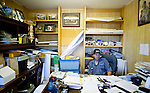 Bernard Ominayak, 30-year chief of the Lubicon nation, sits in his office at Little Buffalo which is 70kms east of Peace River, Alberta on July 15, 2010. Residents in the area have been complaining of strong odours in the air which they say are affecting the health of their animals and family members..Jimmy Jeong / www.jimmyshoots.com