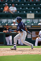 Charlotte Stone Crabs Vidal Brujan (2) at bat during a Florida State League game against the Bradenton Marauders on April 10, 2019 at LECOM Park in Bradenton, Florida.  Bradenton defeated Charlotte 2-1.  (Mike Janes/Four Seam Images)