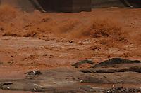 Com as comportas da UHE  Mascarenhas abertas a lama corre os cursos dágua matando o que vem pela frente.<br /> <br /> Baixo Gandu, Espirito Santos, Brasil<br /> Marcello Lourenço; <br /> 18/11/2015