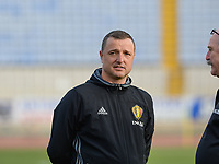 20180305 - LARNACA , CYPRUS :  Belgian head coach Ives Serneels  pictured during a women's soccer game between  the Belgian Red Flames  and Austria , on Monday 5 March 2018 at the GSZ Stadium in Larnaca , Cyprus . This is the third game in group B for Belgium during the Cyprus Womens Cup , a prestigious women soccer tournament as a preparation on the World Cup 2019 qualification duels. PHOTO SPORTPIX.BE | DAVID CATRY