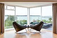 BNPS.co.uk (01202) 558833. <br /> Pic: TailorMade/AshleyFaull/BNPS<br /> <br /> Pictured: Stunning views of Poole Harbour from £6m mansion which has now been demolished. <br /> <br /> A wealthy homeowner has made the 'brave' decision to demolish his £6m seaside mansion that has its own indoor pool, gym and cinema. <br /> <br /> Ashley Faull has flattened the 20-year-old luxury house to build nine new flats to meet the increasing demand for housing that has led to a surge in property prices.<br /> <br /> The apartments will be priced between £1.495m to £2.8m.<br /> <br /> The now ruined four-storey and 19-room home sits on a half-an-acre plot that backs on to Poole Harbour and overlooks exclusive Sandbanks in Dorset.