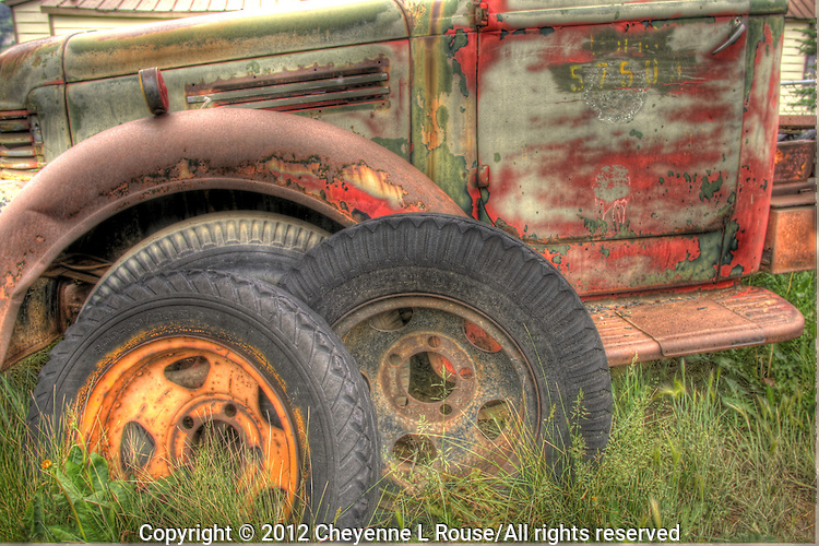 Old truck and tires in Silverton, Coloraado