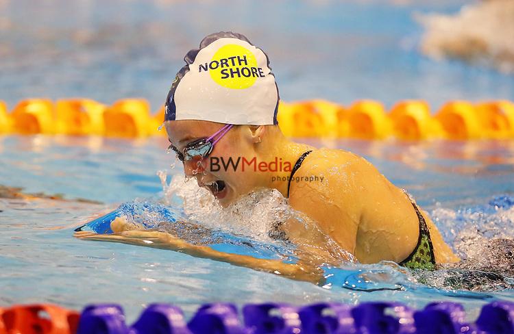 Gabriella Doyle. Session 2 of the AON New Zealand National Age Group Swimming Champs, Wellington Regional Aquatic Centre, Auckland, New Zealand. Monday 19 April 2021 Photo: Simon Watts/www.bwmedia.co.nz
