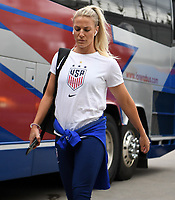 Saint Paul, MN - SEPTEMBER 03: Julie Ertz #8 of the United States during their 2019 Victory Tour match versus Portugal at Allianz Field, on September 03, 2019 in Saint Paul, Minnesota.