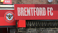 General view of the signage at the Main Entrance to the stadium during Brentford vs Charlton Athletic, Sky Bet EFL Championship Football at Griffin Park on 7th July 2020