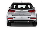 Straight rear view of 2020 Hyundai i30 Techno 5 Door Hatchback Rear View  stock images