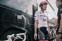 John Degenkolb (DEU/Trek-Segafredo) back at the teambus after a crash infested stage for the team<br /> <br /> 104th Tour de France 2017<br /> Stage 11 - Eymet › Pau (202km)