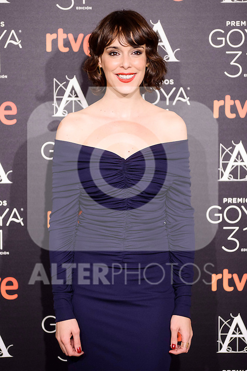 Belen Cuesta attends to the 2017 Goya Awards Candidates Cocktail at Ritz Hotel in Madrid, Spain. January 12, 2017. (ALTERPHOTOS/BorjaB.Hojas)