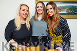 Enjoying the evening in Bella Bia on Saturday.<br /> L to r: Katie O'Flaherty, Michelle Collins and Stephanie Hogan.