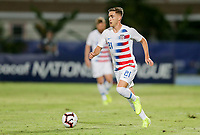GEORGETOWN, GRAND CAYMAN, CAYMAN ISLANDS - NOVEMBER 19: Tyler Boyd #21 of the United States looks for an open man downfield during a game between Cuba and USMNT at Truman Bodden Sports Complex on November 19, 2019 in Georgetown, Grand Cayman.