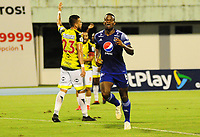 BARRANCABERMEJA- COLOMBIA, 19-11-2020:Alianza Petrolera y Millonarios en partido por los octavos de final de la Copa Betplay DIMAYOR  jugado en el estadio Daniel Villa Zapata de la ciudad de Barrancabermeja. / Alianza Petrolera and Millonarios in the round 16 of the DIMAYOR Betplay Cup played at Daniel Villa Zapata  stadium in the city of Barrancabermeja. Photo: VizzorImage / Jose David Martinez/ Contribudor