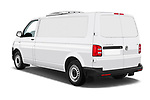 Car pictures of rear three quarter view of a 2018 Volkswagen Transporter Base 4 Door Pick Up angular rear