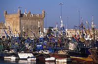 Afrique/Maghreb/Maroc/Essaouira : Le port de pêche et la skala du port