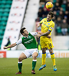 Hibs v St Johnstone…18.11.17…  Easter Road…  SPFL<br />John McGinn and Paul Paton<br />Picture by Graeme Hart. <br />Copyright Perthshire Picture Agency<br />Tel: 01738 623350  Mobile: 07990 594431