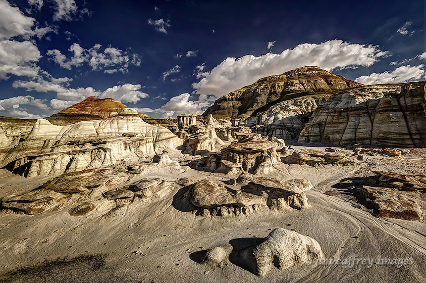 Hoodoos in a side wash that drains into Alamo Wash in the Bisti Wilderness in northwest New Mexico.
