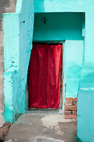 India, Rishikesh.  Doorway to a Private Residence.