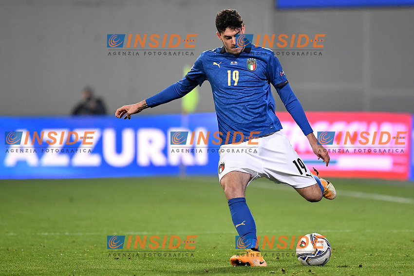 Alessandro Bastoni of Italy in action during the Uefa Nation League Group Stage A1 football match between Italy and Poland at Citta del Tricolore Stadium in Reggio Emilia (Italy), November, 15, 2020. Photo Andrea Staccioli / Insidefoto