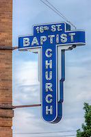 The historic 16th Street Baptist Church, was the site of the racially motivated bombings that killed four little girls in 1963.   The church is located in the Birmingham Civil RIghts District of Birmingham, Alabama.
