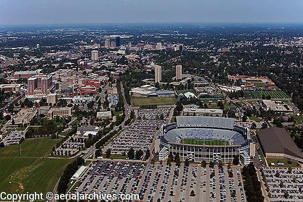 aerial photograph,  University of Kentucky, Commonwealth Stadium, Lexington, Kentucky